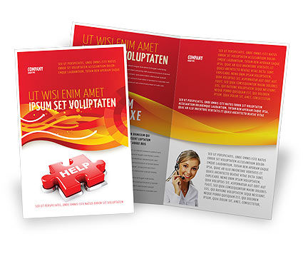 Help Puzzle Brochure Template, 04470, Consulting — PoweredTemplate.com