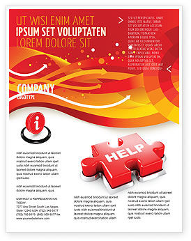 Help Puzzle Flyer Template, 04470, Consulting — PoweredTemplate.com