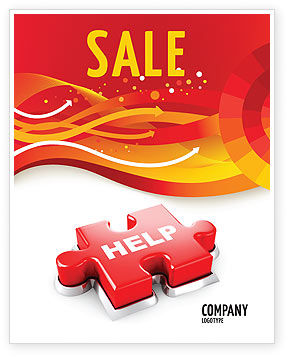 Help Puzzle Sale Poster Template, 04470, Consulting — PoweredTemplate.com