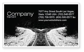 Construction: Choosing a Way Business Card Template #04471