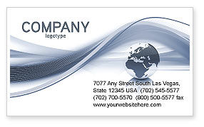 Global: World View Business Card Template #04472