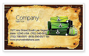 Travel Tour Business Card Template, 04473, Careers/Industry — PoweredTemplate.com