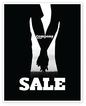 People: Relationship Sale Poster Template #04476