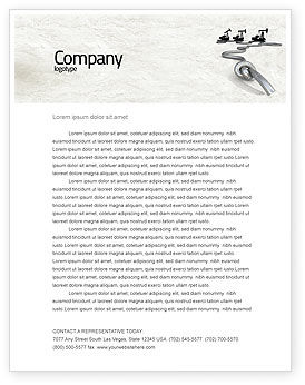 Utilities/Industrial: Gas Pipelines Letterhead Template #04478
