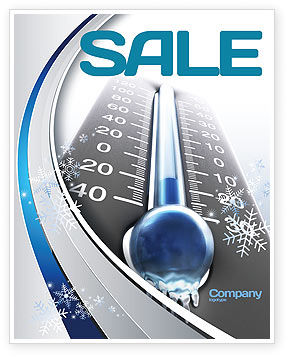 Nature & Environment: Frost Sale Poster Template #04481
