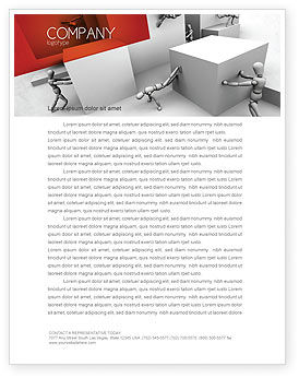 Different Angle Letterhead Template, 04483, Consulting — PoweredTemplate.com