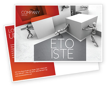 Consulting: Different Angle Postcard Template #04483