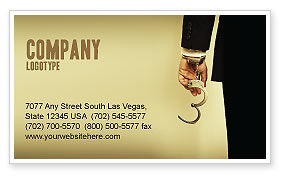 Handcuffs Business Card Template, 04484, Legal — PoweredTemplate.com