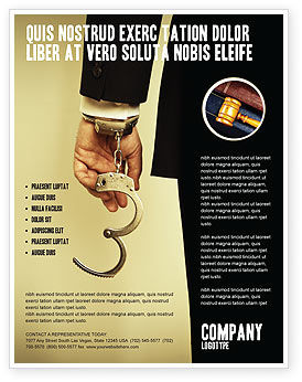 Legal: Handcuffs Flyer Template #04484