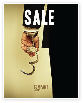 Legal: Handcuffs Sale Poster Template #04484
