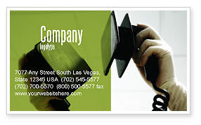 Defibrillator Business Card Template, 04487, Medical — PoweredTemplate.com