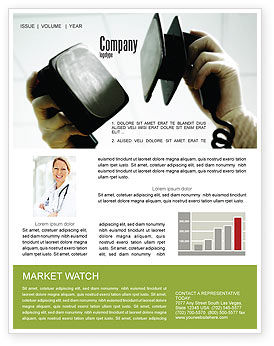 Defibrillator Newsletter Template, 04487, Medical — PoweredTemplate.com