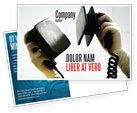 Medical: Defibrillator Postcard Template #04487