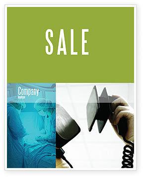 Defibrillator Sale Poster Template, 04487, Medical — PoweredTemplate.com