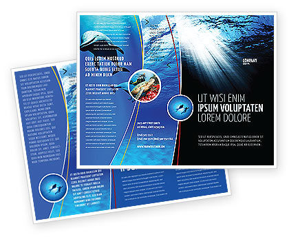 Deep Waters Brochure Template, 04488, Nature & Environment — PoweredTemplate.com