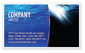 Nature & Environment: Deep Waters Business Card Template #04488