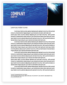 Nature & Environment: Deep Waters Letterhead Template #04488