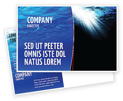 Nature & Environment: Deep Waters Postcard Template #04488