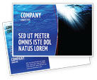 Nature & Environment: Deep Waters Postcard Template #04488