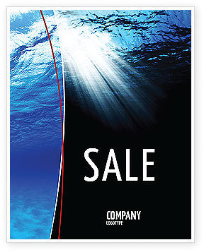 Nature & Environment: Deep Waters Sale Poster Template #04488