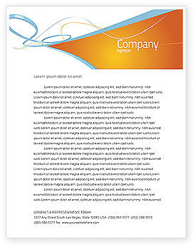 Abstract Stripes Letterhead Template, 04492, Abstract/Textures — PoweredTemplate.com