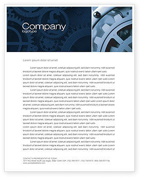 Constituent Letterhead Template, 04494, Utilities/Industrial — PoweredTemplate.com