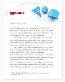 Smiles Letterhead Template, 04495, Education & Training — PoweredTemplate.com