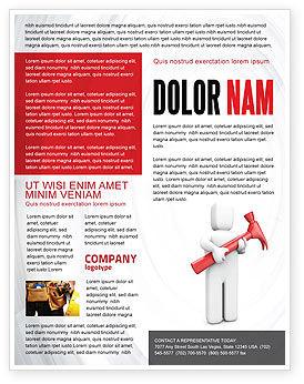 Utilities/Industrial: Hammer Man Flyer Template #04496