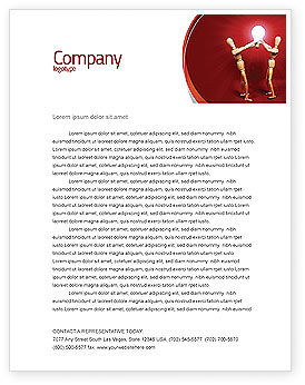 Teamwork Result Letterhead Template, 04498, Consulting — PoweredTemplate.com