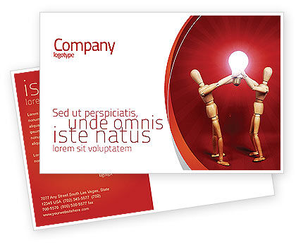 Teamwork Result Postcard Template, 04498, Consulting — PoweredTemplate.com