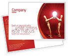 Consulting: Teamwork Result Postcard Template #04498