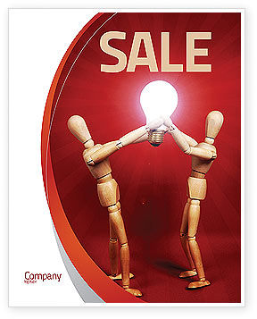Teamwork Result Sale Poster Template, 04498, Consulting — PoweredTemplate.com