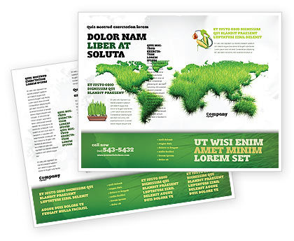 Green Grass of World Brochure Template, 04500, Nature & Environment — PoweredTemplate.com
