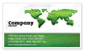 Green Grass of World Business Card Template, 04500, Nature & Environment — PoweredTemplate.com