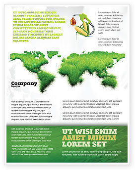 Green Grass of World Flyer Template