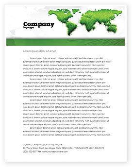 Nature & Environment: Modèle de Papier à en-tête de herbe verte du monde #04500