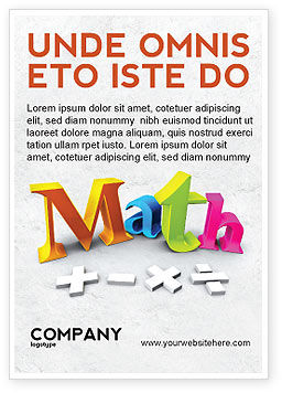 Education & Training: Math Addition Ad Template #04501