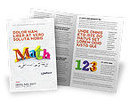 Education & Training: Math Addition Brochure Template #04501