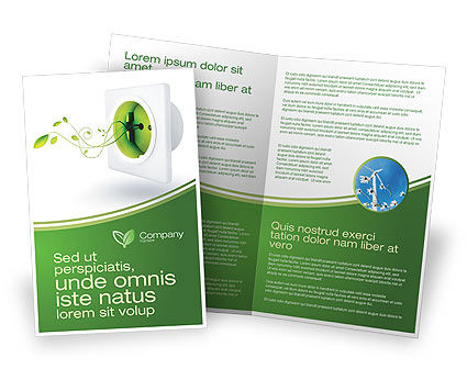 Green Socket Brochure Template, 04502, Careers/Industry — PoweredTemplate.com