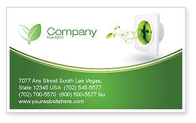 Green Socket Business Card Template, 04502, Careers/Industry — PoweredTemplate.com