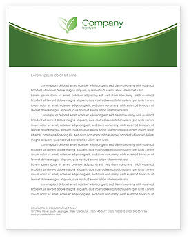Careers/Industry: Green Socket Letterhead Template #04502