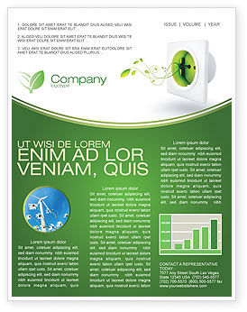 Careers/Industry: Green Socket Newsletter Template #04502