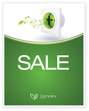 Green Socket Sale Poster Template, 04502, Careers/Industry — PoweredTemplate.com