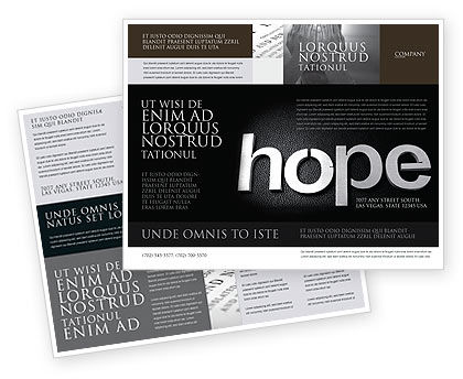 Religious/Spiritual: Hope Brochure Template #04503