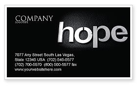 Religious/Spiritual: Hope Business Card Template #04503