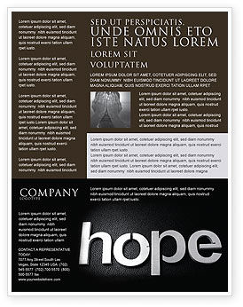 Religious/Spiritual: Hope Flyer Template #04503