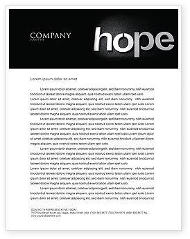 Religious/Spiritual: Hoffnung Briefkopf Vorlage #04503