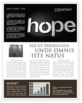 Religious/Spiritual: Hope Newsletter Template #04503