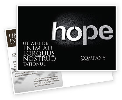 Hope Postcard Template, 04503, Religious/Spiritual — PoweredTemplate.com