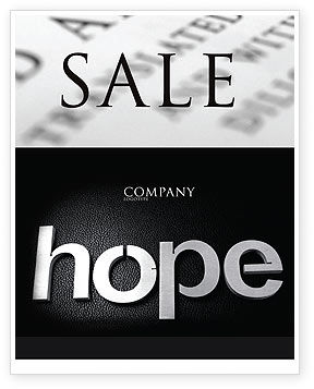 Hope Sale Poster Template